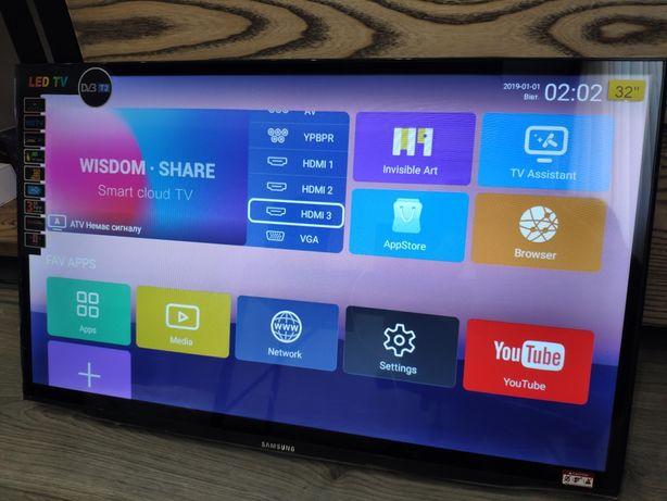 Телевизор Samsung 32 55 дюйма Smart TV Full HD телевізор Wi-Fi YouTub