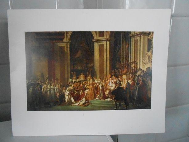 Gravura da famosa pintura da coroação de Mapoleão