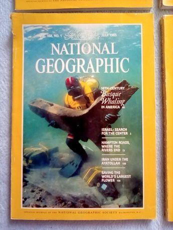 National Geographic - wydanie angielskie - 3 numery (1985 do 1990)