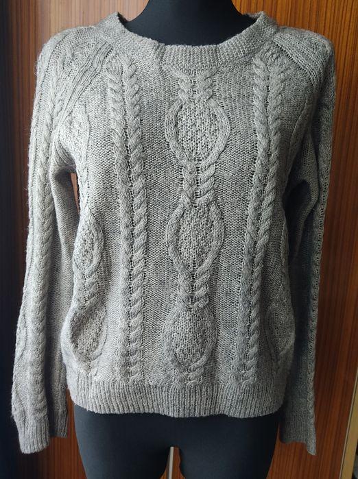 Sweterek pleciony h&m retro vintage r m Międzyrzecz - image 1