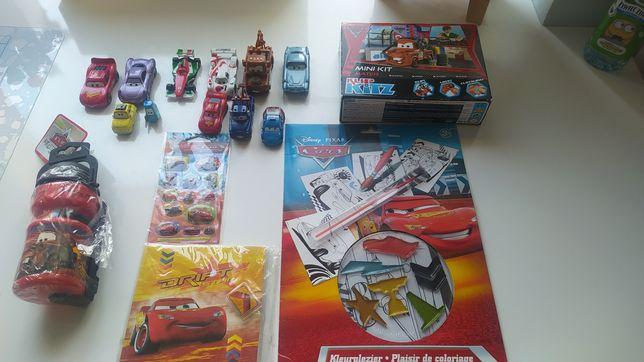 Bajka Auta,Cars zestaw: samochody,kolorowanka,model do składania