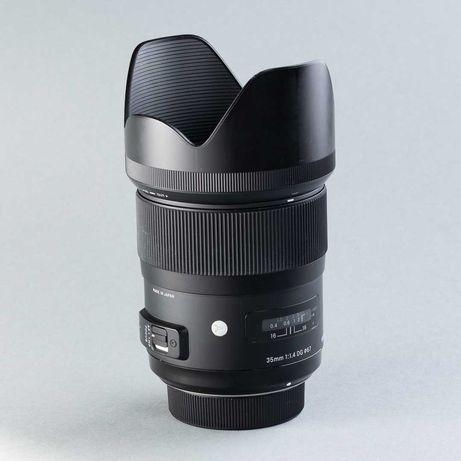 Aluguer da lente Sigma Art 35mm f/1.4 Canon EF, 25€/dia