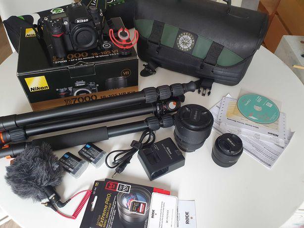 Nikon D7000 9tyś. zdjęć stan idealny MEGA ZESTAW