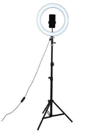 Кольцевая лампа 26см+штатив 2м+держатель для телефона.Комплект 3в1.