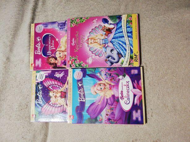 Płyty DVD z filmami Barbie