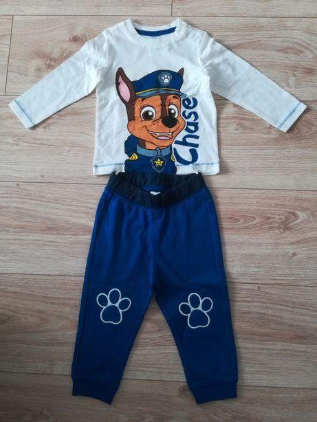 Nowy komplet Psi Patrol Chase, spodnie dresy bluzka, rozmiar 80
