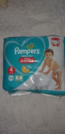 Новая упаковка Pampers pants 4