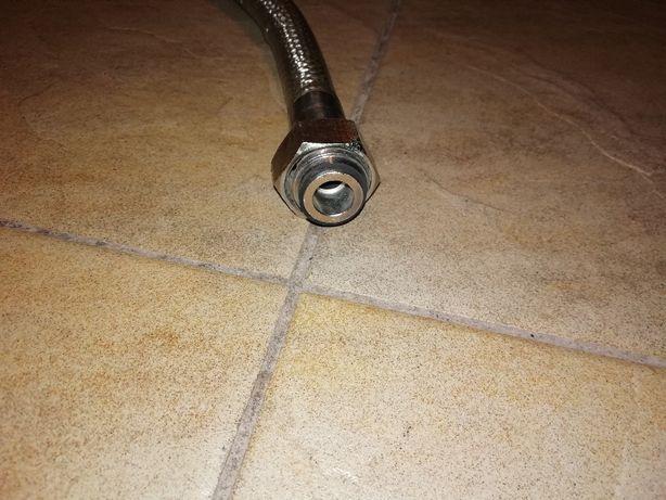 Wąż do kuchni gazowej 1 metr ( giętki , zbrojony otoczką metalową )