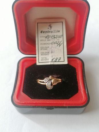 Кольцо из кр. золота бриллианты(4шт.) 1.87г, р.16, RD432110, этикетка