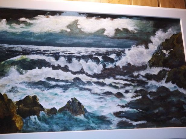 Obraz  olejny 92 cm x 59 cm