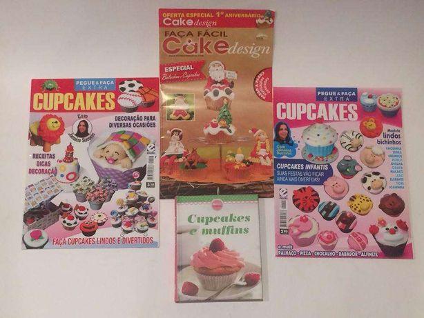 Cupcakes e muffins + 4 revistas