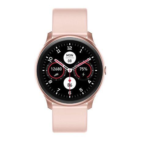 Smartwatch Różowy Czarny KW13 Zegarek Elegancki Sportowy AMOLED