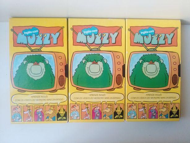 Cassetes VHS Muzzy curso de inglês 1988