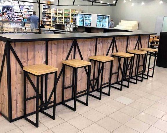 Мебель для бару, ресторану, магазину. Барні стійки, торгові стелажі.