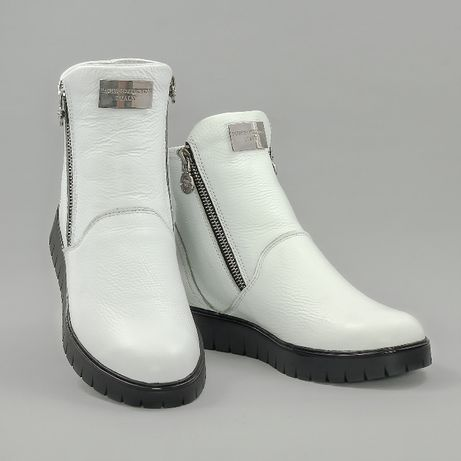 Женские ботинки зимние белые 38 размер