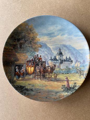 Винтаж: Тарелки фарфор настенные коллекция «На живописном Рейне»