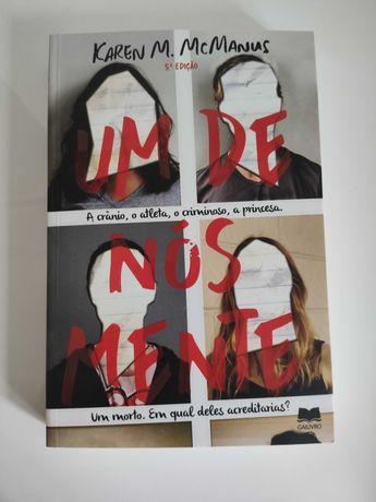 Livro: Um de Nós Mente - Karen McManus