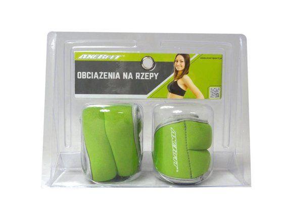 Obciążenia neoprenowe na dłoń 2x0,5kg Axer Fit - Zielony
