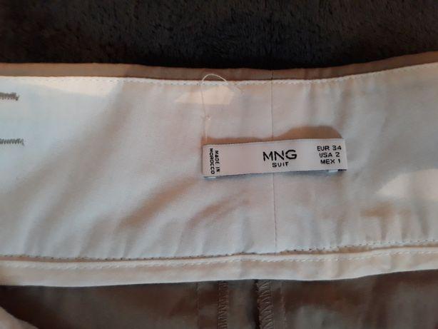Beżowe spodnie Mango XS S