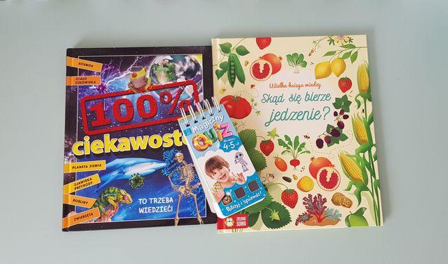 Książki edukacyjne dla dzieci + GRATIS QUIZ 4+ 5+