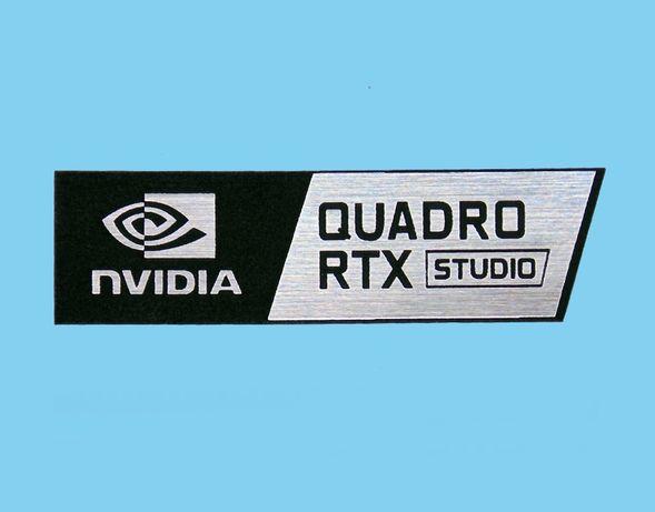 Naklejka emblemat NVIDIA QUADRO RTX 55x15mm