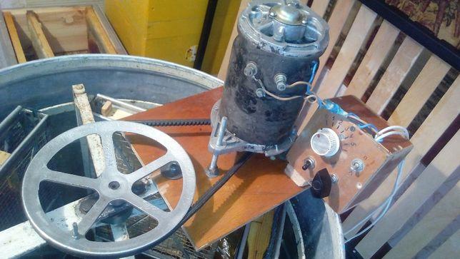 Делаю электропривод медогонки мотор Генератор Г-108 блок управления шк