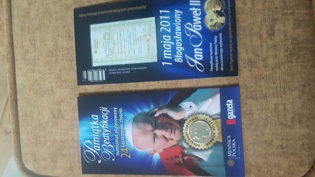 numizmat platerowany 24 karatowym złotem medal,żeton