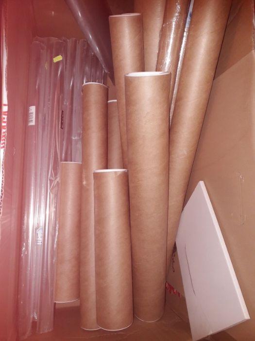 Tuby kartonowe, szary papier, folia zwijana , teczki karton Mińsk Mazowiecki - image 1