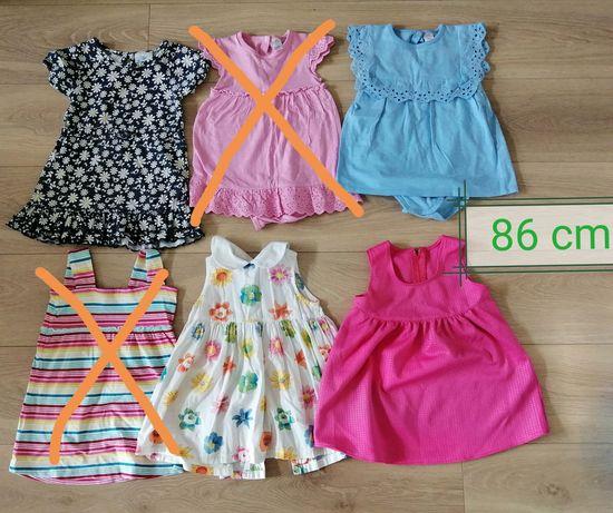 Sukienki 8 szt. Rozm. 86-92 /bolerka gratis
