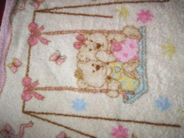 Простынка- одеяло для младенца махровое
