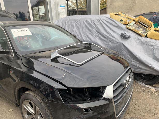 Audi Q3, 2015-2018, 8UO, Капот, решотка, рамка, хром, решотки бампера