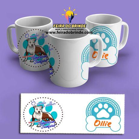 Canecas personalizadas com a raça e nome do seu cão/gato