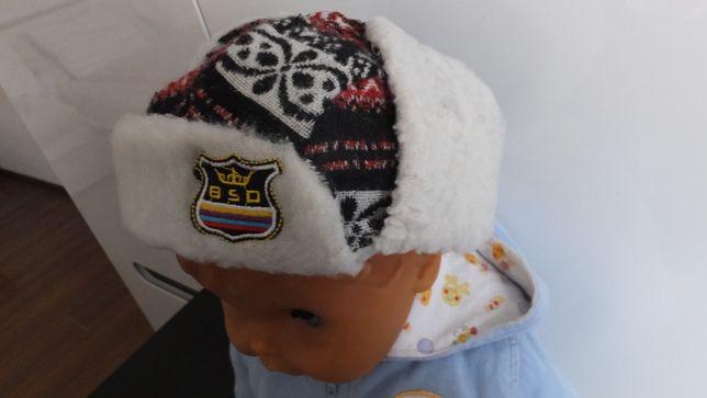 зимняя трикотажная шапка ушанка Childrens Place США разм. 86 - 92
