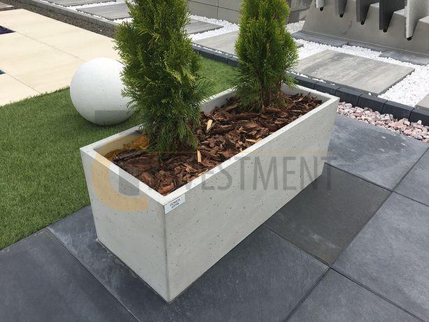 Donica betonowa ogrodowa 100x40x40 Donice z betonu - Duży wybór donic