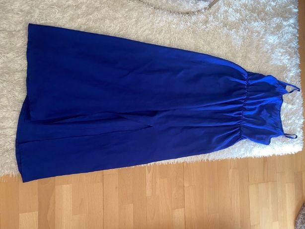 vestido azul tamanho m comprido