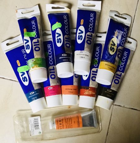 Conjunto de 10 tubos de tinta de óleo para pintura