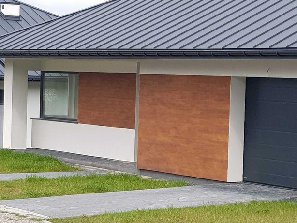 Mineralne panele elewacyjne -imitacja deski .