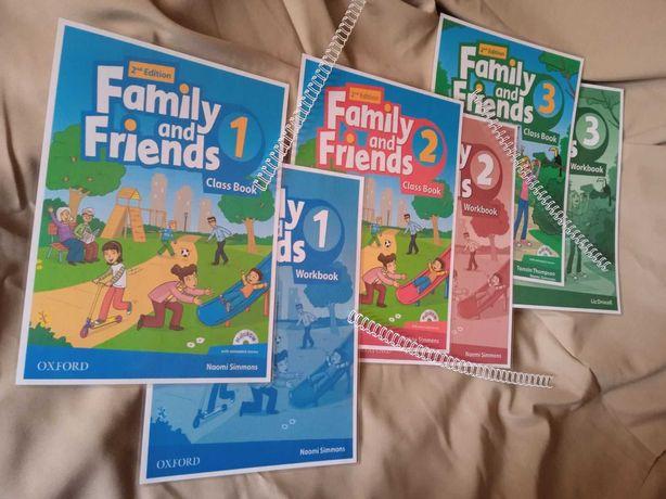 Family and Friends 1,2,3,4,5,6. (КНИГА+ЗОШИТ)