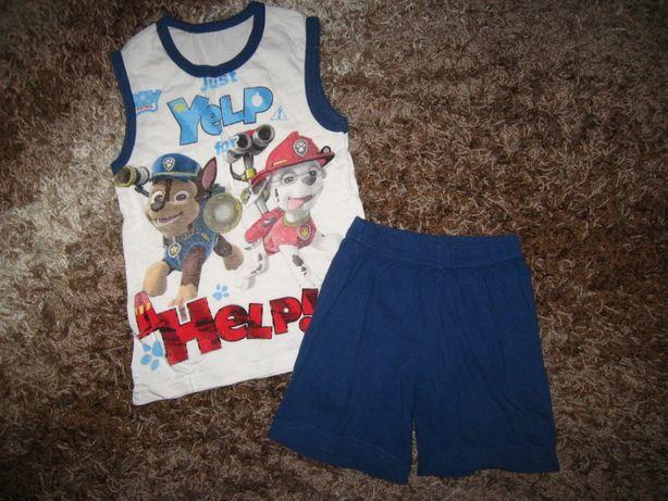 Костюм летний комплект футболка майка шорты