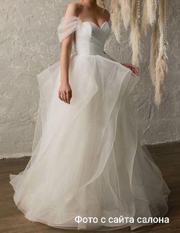 Свадебное платье, цвет - айвори, белый, пудра