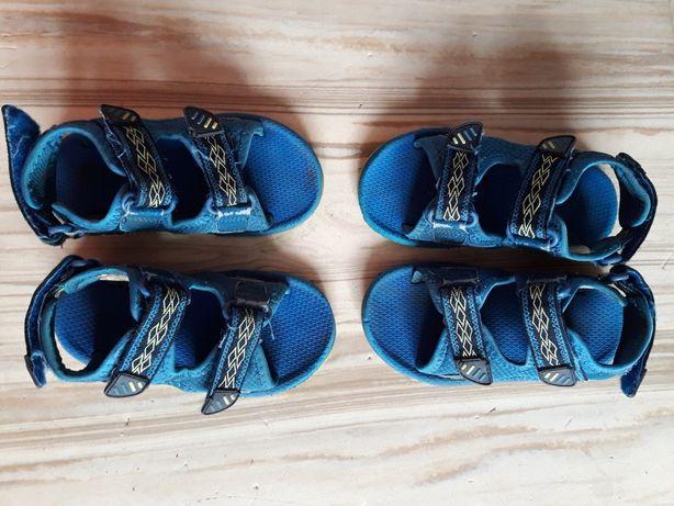 Сандали на мальчика синие, по стельке 16.5 см. Можно для двойни