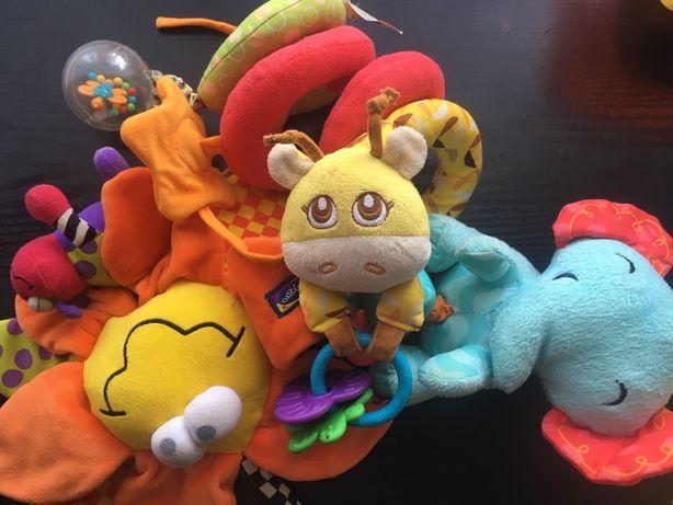 Фирменные игрушки подвеска на коляску одним лотом Chicco Fisher Price