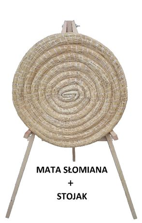 Mata łucznicza słomiana Ø 60 cm ze stojakiem