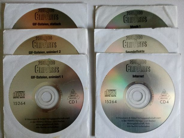 Biblioteka clipart na 10 płytach CD
