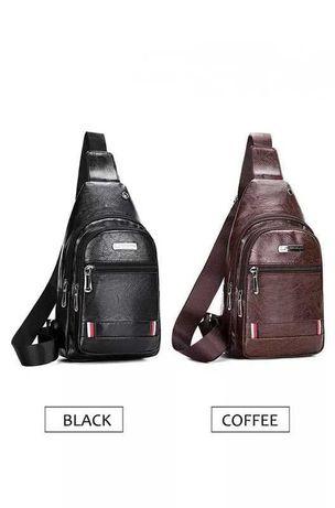 Мужская сумка слинг сумка через плечо, мини рюкзак бананка.