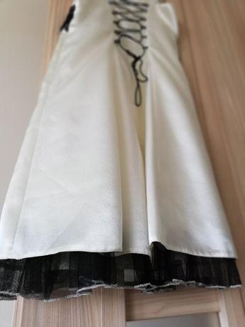 Sukienka ecru, na komunię, wesele