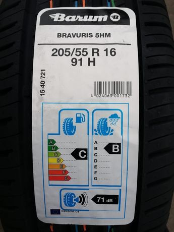 opony 16 letnie 205/55R16 91H Barum Bravuris 5HM 2020r montaż w cenie