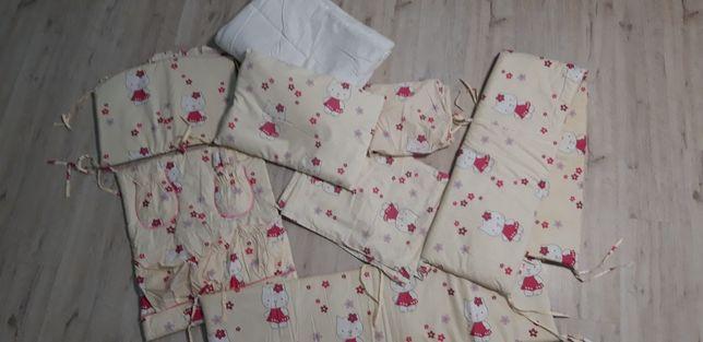 Комплект детского белья с балдахином и защитой Хелоу Китти