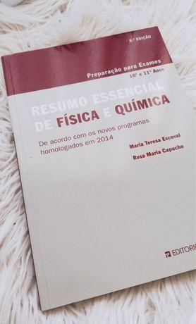 Livro de resumos de Fisica e Quimíca 10 e 11 ano