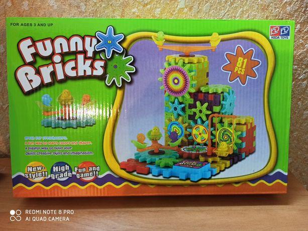 Детский конструктор шестеренки Funny Bricks